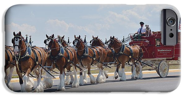 Draft iPhone Cases - World Renown Clydesdales 2 iPhone Case by Kae Cheatham