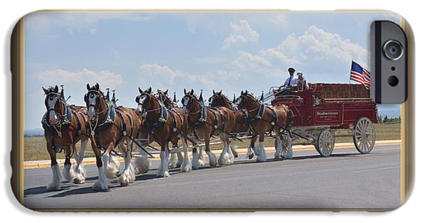Draft iPhone Cases - World Renown Clydesdales iPhone Case by Kae Cheatham