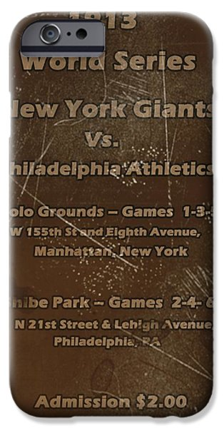 Shibe Park iPhone Cases - World Series 1913 iPhone Case by David Dehner