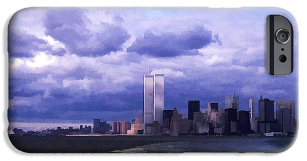 Twin Towers Nyc iPhone Cases - World Trade Center 7 iPhone Case by Allen Beatty