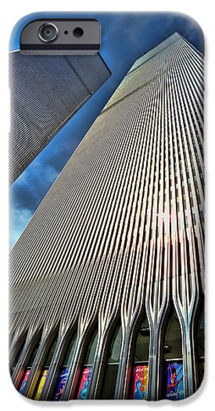 Twin Towers Nyc iPhone Cases - World Trade Center  iPhone Case by Allen Beatty