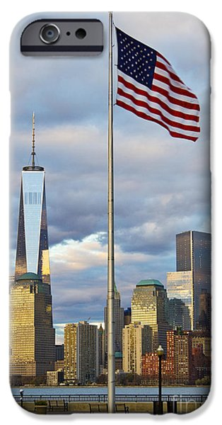 Hudson River iPhone Cases - World Trade Center Freedom Tower in Lower Manhattan New York Cit iPhone Case by ELITE IMAGE photography By Chad McDermott