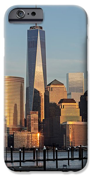 Freedom iPhone Cases - World Trade Center Freedom Tower NYC iPhone Case by Susan Candelario