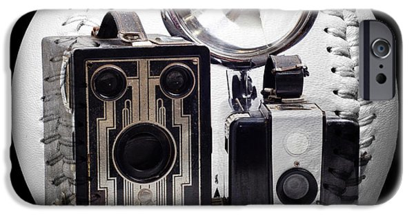 Photographs Mixed Media iPhone Cases - World Travelers Baseball Square iPhone Case by Andee Design