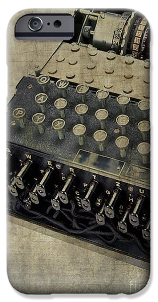 Imitation iPhone Cases - World War II Enigma Secret Code Machine iPhone Case by Edward Fielding