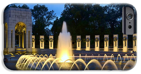 Patriots iPhone Cases - World War II Memorial iPhone Case by Allen Beatty