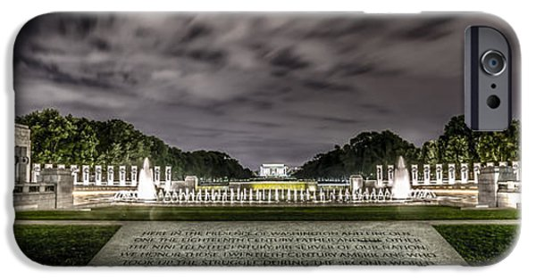 Lincoln iPhone Cases - World War II Memorial iPhone Case by David Morefield