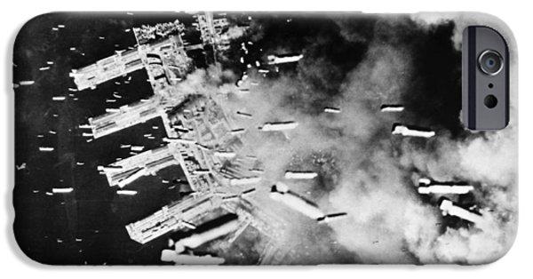 Kobe Photographs iPhone Cases - World War Ii: U.s. Air Raid iPhone Case by Granger