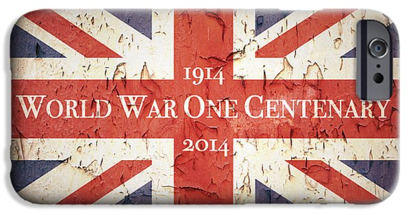 World War One Photographs iPhone Cases - World War One Centenary Union Jack iPhone Case by Jane Rix