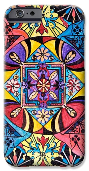 Mandalas iPhone Cases - Worldly Abundance iPhone Case by Teal Eye  Print Store