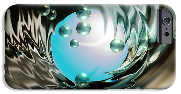 Abstract Digital Photographs iPhone Cases - Worlds Apart iPhone Case by Cheryl Young
