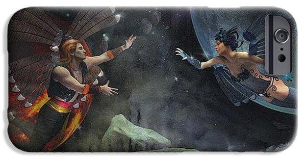 David iPhone Cases - Worlds Apart iPhone Case by David Edgar