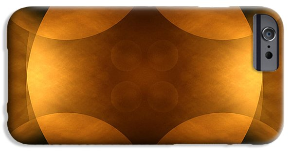 Earth Tone Art iPhone Cases - Worlds Collide 11 iPhone Case by Mike McGlothlen