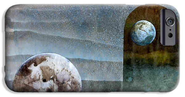 Heavenly Body iPhone Cases - Worlds in worlds in worlds iPhone Case by Gun Legler