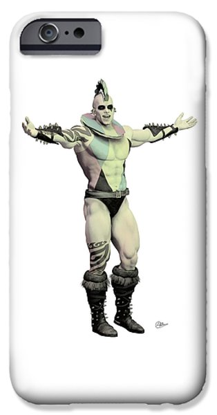 Seductive iPhone Cases - Worlds Strongest Man Circus  iPhone Case by Joaquin Abella