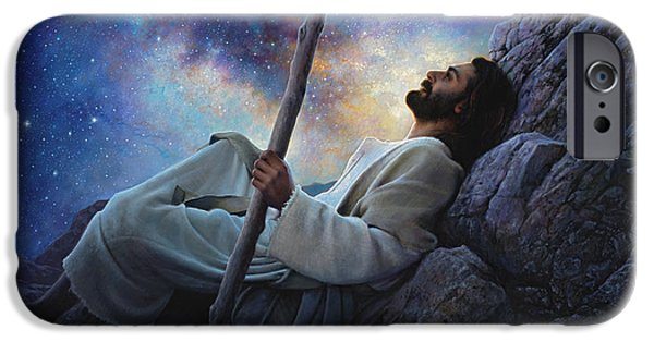 Contemplation iPhone Cases - Worlds Without End iPhone Case by Greg Olsen