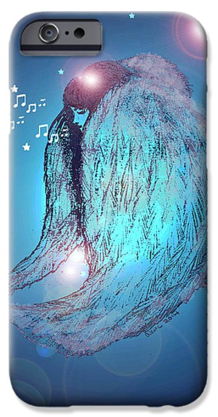 Seraphim Angel iPhone Cases - Worshipping angel iPhone Case by Ang Q