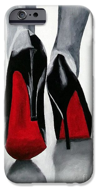 Shoe iPhone Cases - Worth a Million iPhone Case by Rebecca Jenkins
