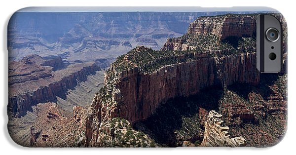 Grand Canyon iPhone Cases - Wotan Throne Grand Canyon iPhone Case by Gary Eason