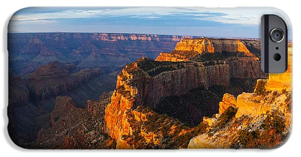 Grand Canyon iPhone Cases - Wotans Throne From Cape Royal, North iPhone Case by Panoramic Images