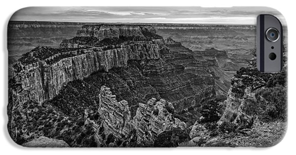 Northern Arizona iPhone Cases - Wotans Throne North Rim Grand Canyon National Park - Arizona iPhone Case by Silvio Ligutti