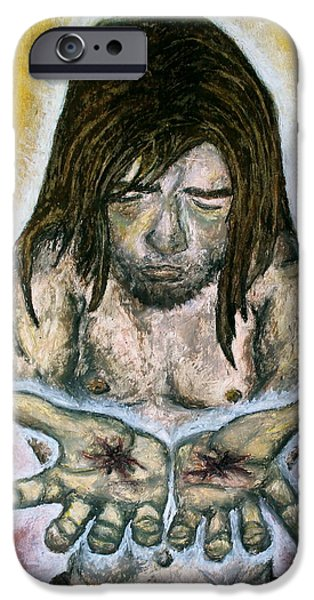 Son Of God Pastels iPhone Cases - Wounded Healer iPhone Case by Lindy Marie