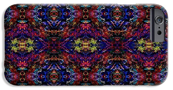 Colorful Abstract Tapestries - Textiles iPhone Cases - Woven Pattern iPhone Case by ArtCraftE Shop