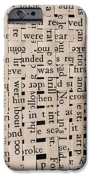 Woven iPhone Cases - Woven Words iPhone Case by Edward Fielding