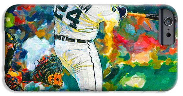Detroit Tigers Baseball Art iPhone Cases - Wow Cabrera iPhone Case by John Farr