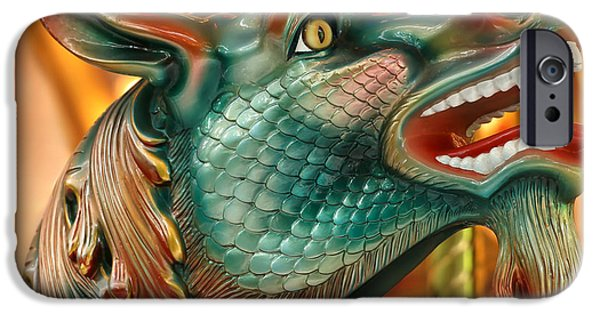 Serpent iPhone Cases - Wow Merry Go Round Seahorse iPhone Case by Sabrina L Ryan