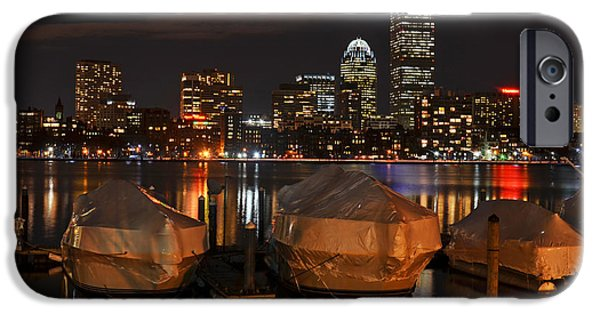 Boston Ma Digital iPhone Cases - Wrapped Boston Boats for the Winter iPhone Case by Toby McGuire