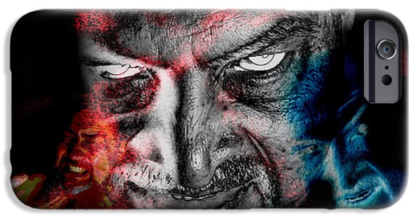 Inner Self iPhone Cases - Wrath iPhone Case by Camille Lopez