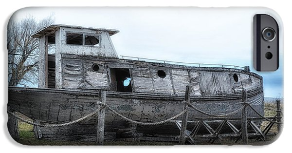 Boat iPhone Cases - Wrecked 5 iPhone Case by Todd and candice Dailey