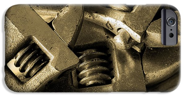 Hand Tool iPhone Cases - Wrenches iPhone Case by Michael Eingle