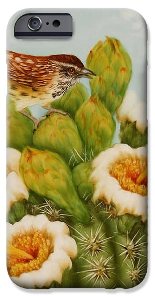 Wrens on Top of Tucson iPhone Case by Summer Celeste