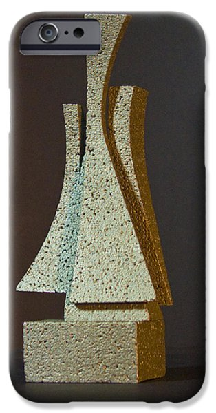 Stainless Steel Sculptures iPhone Cases - Wright Way iPhone Case by Richard Arfsten