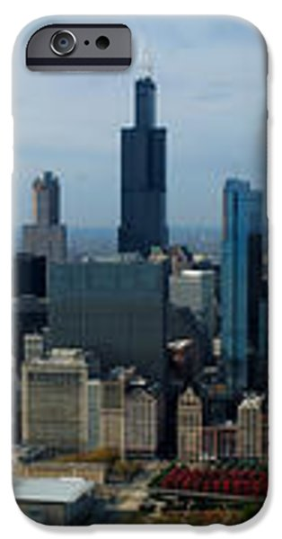 Wrigley and US Cellular Fields Chicago BaseBall Parks 3 Panel Composite 01 iPhone Case by Thomas Woolworth