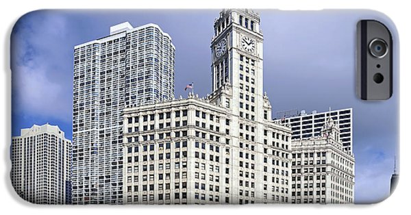 Wrigley iPhone Cases - Wrigley Building Chicago iPhone Case by Christine Till