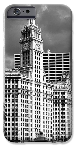 Christine Till iPhone Cases - Wrigley Building Chicago Illinois iPhone Case by Christine Till
