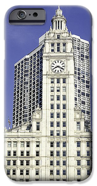 Wrigley iPhone Cases - Wrigley Building Chicago iPhone Case by Julie Palencia