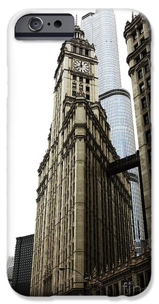 Wrigley iPhone Cases - Wrigley Building iPhone Case by John Rizzuto