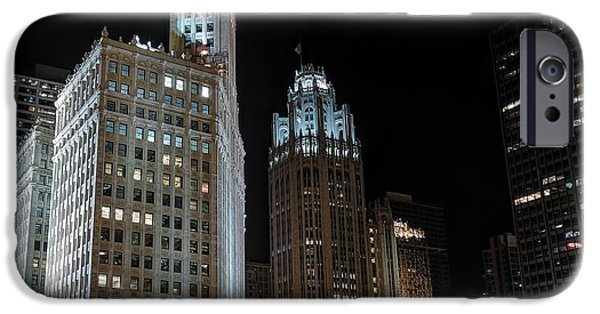 Wrigley iPhone Cases - Wrigley Building iPhone Case by Nisah Cheatham