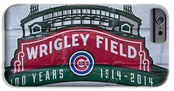 Wrigley Field iPhone Cases - Wrigley Field at 100 iPhone Case by David Bearden