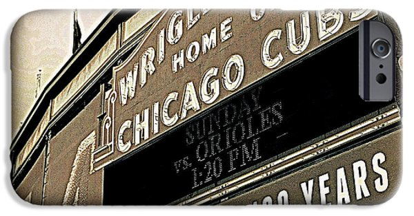 Wrigley Field iPhone Cases - Wrigley Field at 100 Years iPhone Case by Toni Abdnour