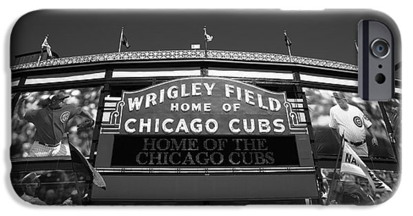 Chicago Cubs iPhone Cases - Wrigley Field - Chicago Cubs 14 iPhone Case by Frank Romeo