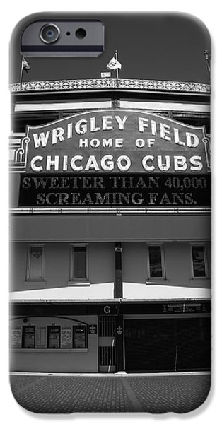 Chicago Cubs iPhone Cases - Wrigley Field - Chicago Cubs 15 iPhone Case by Frank Romeo