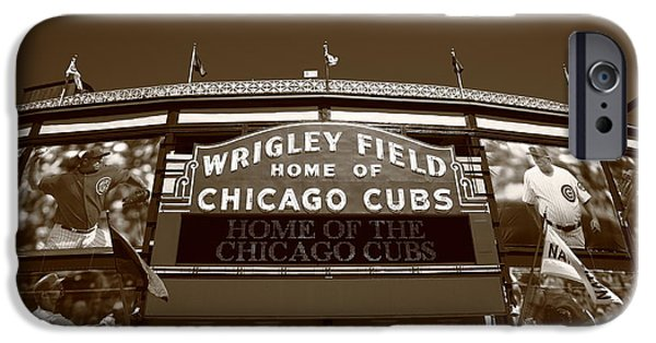 Wrigley iPhone Cases - Wrigley Field - Chicago Cubs 28 iPhone Case by Frank Romeo