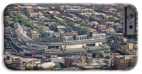 Wrigley iPhone Cases - Wrigley Field - Home of the Chicago Cubs iPhone Case by Adam Romanowicz