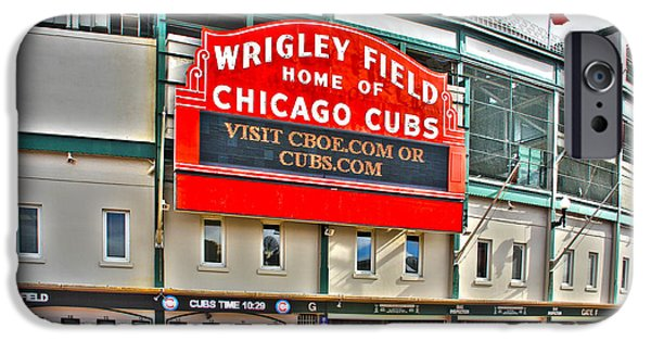 Chicago Cubs iPhone Cases - Wrigley Field iPhone Case by Jack Schultz