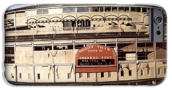 Chicago Cubs iPhone Cases - Wrigley Field iPhone Case by Jack Zheng